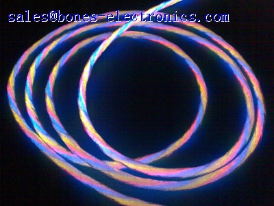 multi-cores side glow fiber optic lighting cable
