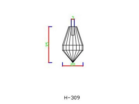 H309 fibre optic end fittings