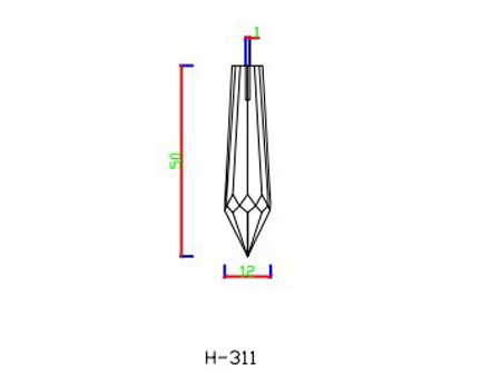 H311 fibre optic end fitting
